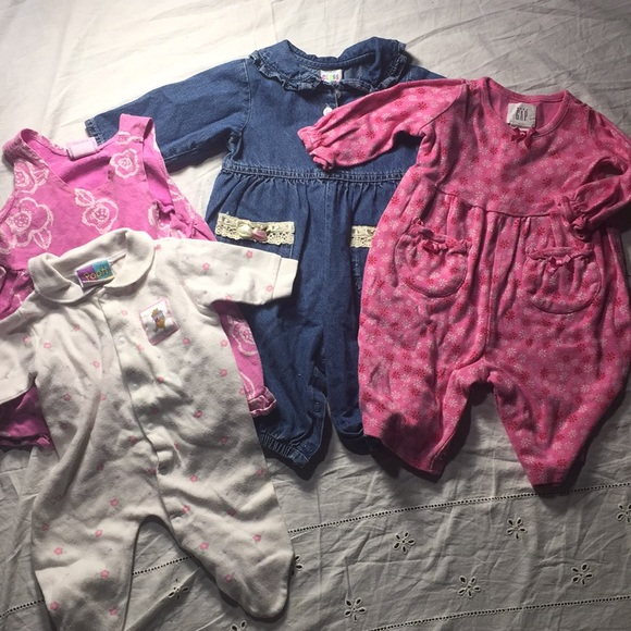 BNWT Baby girls 3 piece pink jogging suit sweat top and trousers Clothes 6 sizes